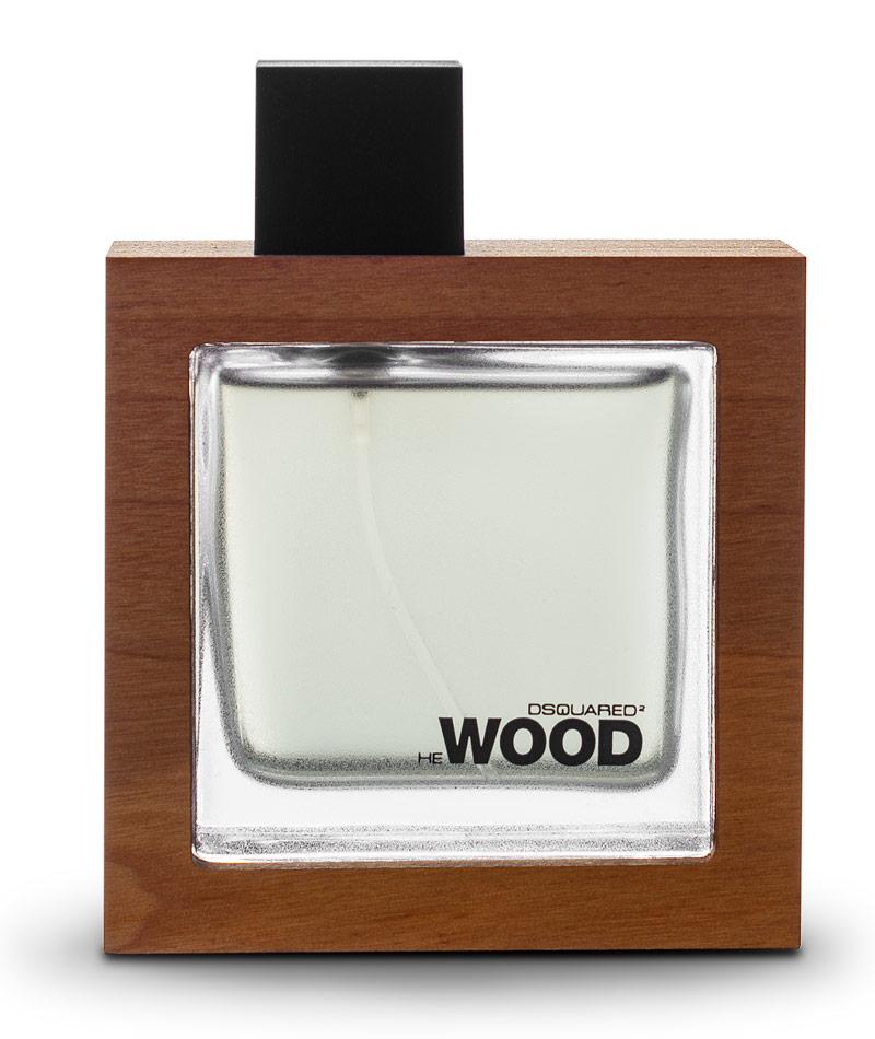 DSquared He Wood Parfume Bottle | Productfotografie van Parfum